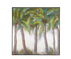 Lienzo de palmeras pintado a mano 102x101