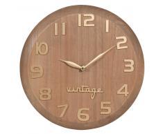 Reloj de paulonia D.30 cm VINTAGE MARKET