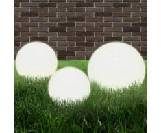 VidaXL Lámpara de jardín esférica E27 20/30/40 cm PMMA