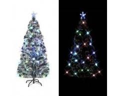 VidaXL Árbol artificial de Navidad soporte acero/luces LED 180cm 220 ramas