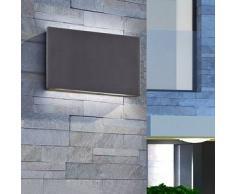 VidaXL Lámpara de pared LED exterior con luz superior e inferior 12 W negra