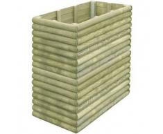 VidaXL Jardinera 106x56x96 cm de madera pino impregnada