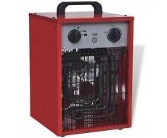 VidaXL Calentador industrial eléctrico y portátil, 3 kW 150 m³/h