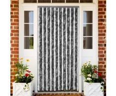 VidaXL Cortina de puerta anti insectos 100 x 220 cm Gris y Blanca