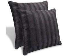 VidaXL 2 almohadas decorativas grises de piel artificial, 45 x cm