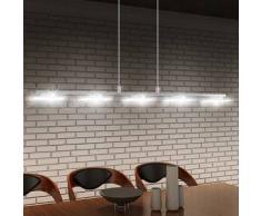 VidaXL Lámpara de techo colgante LED 100cm, luz blanca cálida, 5x5w