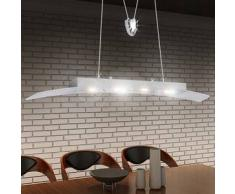 VidaXL Lámpara de techo colgante LED acrílico, 80 cm, blanco cálido, 4x5W