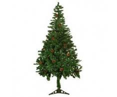 VidaXL 4,9 Pies (150 cm) Árbol De Navidad Escarchado Con Conos Del Pino
