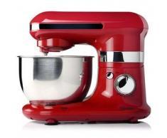 Tristar Robot de cocina/ Batidora amasadora + Bol, 4 L, Rojo