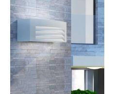 VidaXL Lámpara de pared exterior aluminio gris