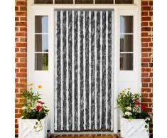 VidaXL Cortina de puerta anti insectos 90 x 220 cm Gris y Blanca