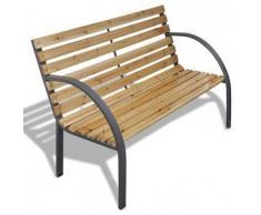 VidaXL Banco para jardin de madera y hierro