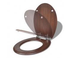 VidaXL Asiento de inodoro con tapa cierre suave, color madera