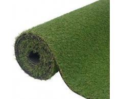VidaXL Césped artificial verde 1x15 m/20-25 mm