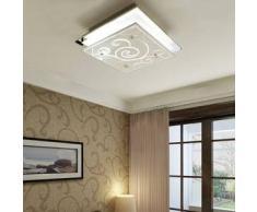 VidaXL Lámpara de techo vidrio, cuadrada estampada 1 x E27
