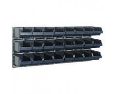 Raaco Estante de pared x2 con 24 contenedores 181228