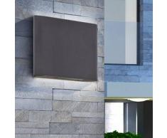 VidaXL Lámpara de pared LED exterior con luz superior e inferior 7,2 W negra