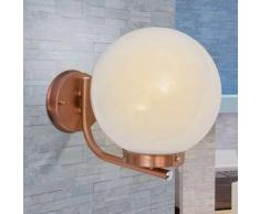 VidaXL Lámpara esfera de pared para exterior acero inoxidable color cobre