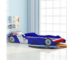 VidaXL cama para niños estilo coche de carreras 90x200 cm color azul