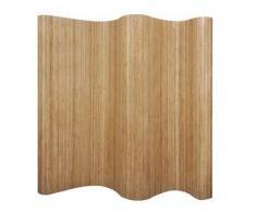 VidaXL Biombo de bambú, color natural