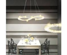VidaXL Lámpara de Techo Cristal en Forma S con LED 22 W