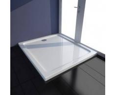 VidaXL Plato de ducha rectangular ABS, color blanco, 80 x 90 cm