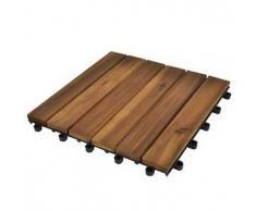 VidaXL Set 20 baldosas de acacia con modelo vertical, 30 x cm