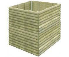 VidaXL Jardinera 106x106x96 cm de madera pino impregnada