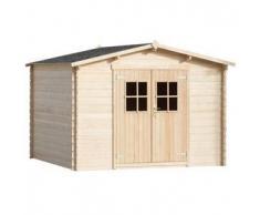 VidaXL Caseta-cabaña de jardín madera 3x3 m