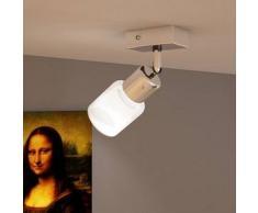 VidaXL Lámpara de techo LED con un foco vidrio integrado