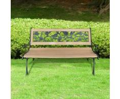 VidaXL Banco para jardín, con respaldo de diseño rosal