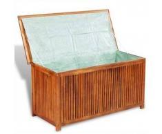 VidaXL baúl de almacenamiento para terraza madera acacia