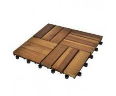 VidaXL Set 20 baldosas de madera acacia, 30 x cm