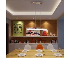 VidaXL Lámpara de techo rectangular colgante, LED, 9X2W