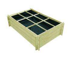 VidaXL Jardinera de madera impregnada 150 x 100 40 cm