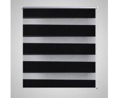 VidaXL Persiana Cebra 90 x 150 cm Negro