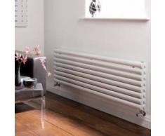 Hudson reed Radiador Diseño Horizontal Doble Acero Blanco 472x1780mm Radiador de Calefaccion Central