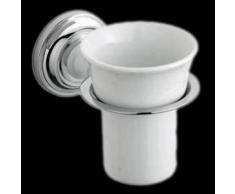 Hudson reed Vaso Porta Cepillo de Dientes Cerámica y Soporte Porta Vaso de Pared