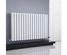 Hudson reed Radiador de Diseño Horizontal Doble Blanco 635x 1000mm 1.666 Vats