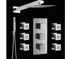 Hudson reed Conjunto de ducha con Llave Mezcladora Termostática Hidromasaje