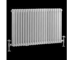 Hudson reed Radiador Diseño Vertical Doble Acero Tradicional Blanco 600mmx1013mm