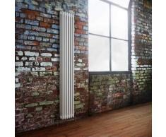 Hudson reed Radiador Diseño Vertical Triple Acero Tradicional Blanco 1800x293mm