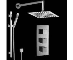Hudson reed Conjunto de Ducha Completo Llave Mezcladora Termostática Latón