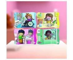 MINILAND Puzzle infantil MINILAND Frame Puzzle: Hábitos de higiene
