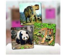 MINILAND Puzzle infantil MINILAND Set 3 Puzzles Progresivos (6, 12 y 25 pcs) Animales