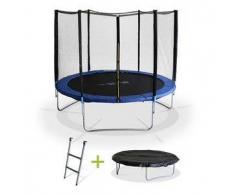 Alice s garden Mars XXL - Cama elástica Azul, trampolin para niños, 305cm, Estructura reforzada aguanta 150kg