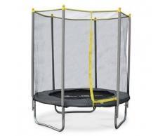 Alice s garden Naos - Camas elasticas, trampolin para niños, Gris Amarillo, 180cm