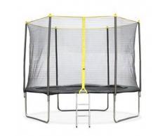 Alice s garden Cabri - Cama elastica Gris, trampolin para niños, 305cm, Estructura reforzada aguanta 150kg