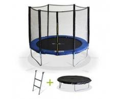 Alice s garden Pluton XXL - Cama elastica Azul, trampolin para niños, 245cm, Estructura reforzada aguanta 150kg