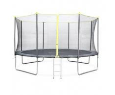 Alice s garden Chavanis - Cama elastica Gris, trampolin para niños, 430cm, Estructura reforzada aguanta 150kg